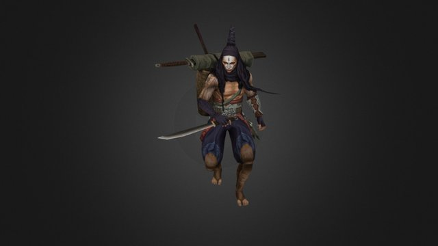 Chinese Assassin (imitate) 3D Model