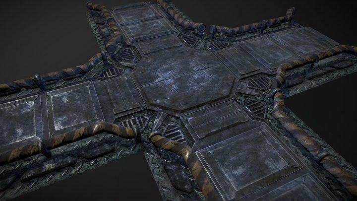 Modular Floor Tile 3D Model