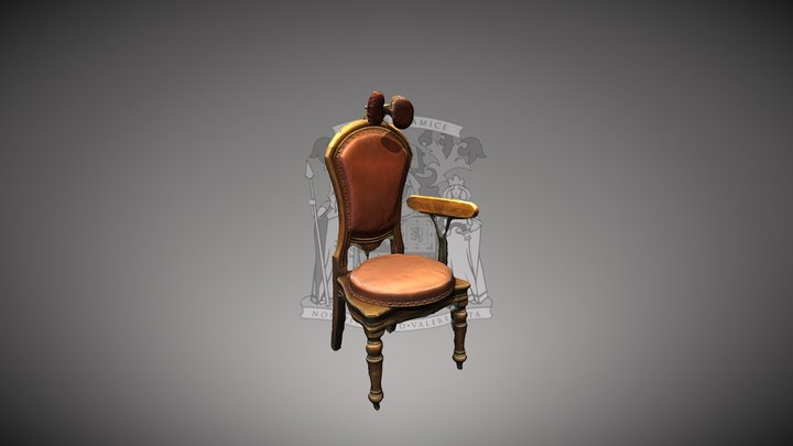 Examination chair used by Adam Brown Kelly 3D Model