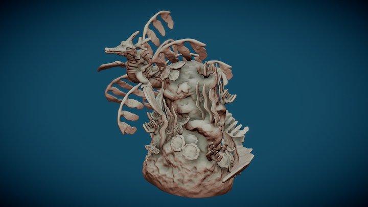 Leaf Sea Dragon 3D Model