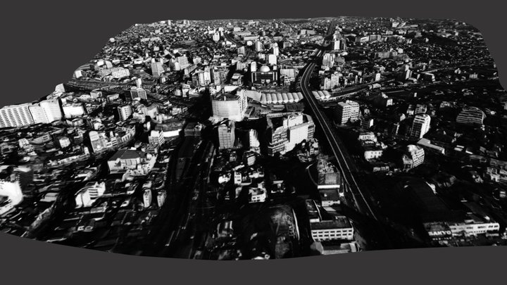 Shibuya city 3D in 1964 3D Model