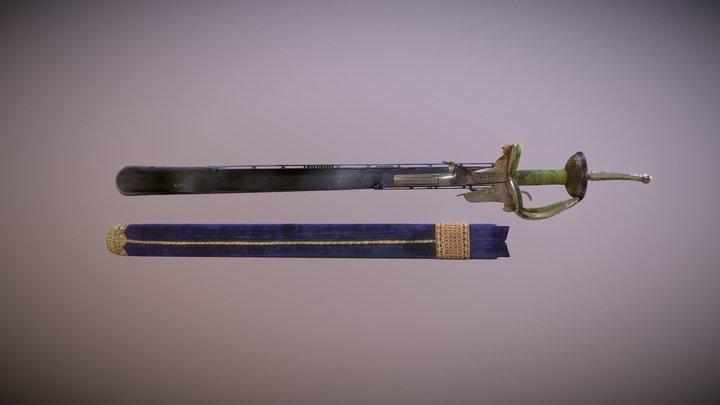 Khanda (with pistol) 3D Model
