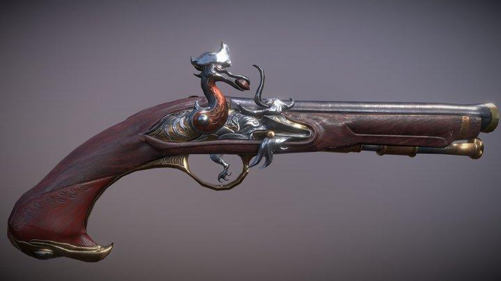 Ladies' Male Flintlock Pistol 3D Model