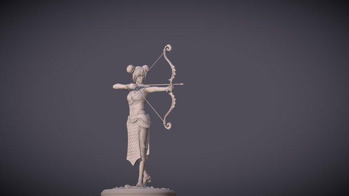 Archer_woman 3D Model