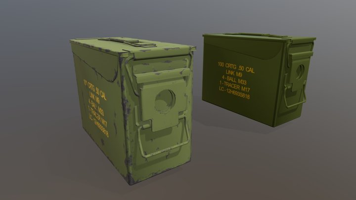 Ammo boxes, Old and New 3D Model