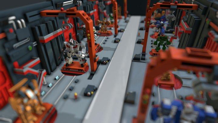 SD Macross Factory 3D Model