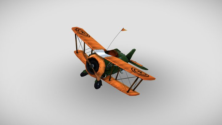 Stylized Airplane 3D Model