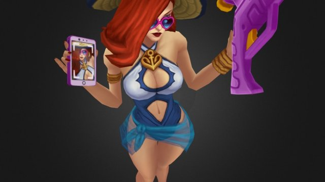 Pool Party Miss Fortune 3D Model