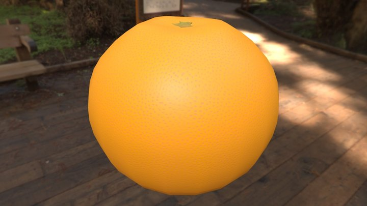 Orange (Low-poly, Downloadable) 3D Model