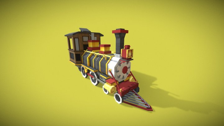 Disney Train Locomotive 3D Model