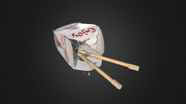 Chinese Take-Out Box 3D Model