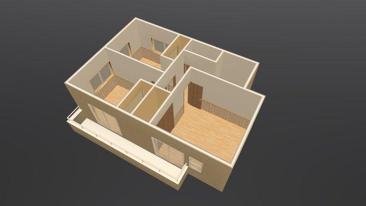 日出山B2F鳥瞰 3D Model