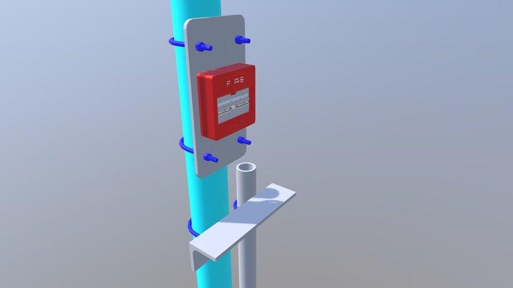 Manual Alarm Call Point 3D Model