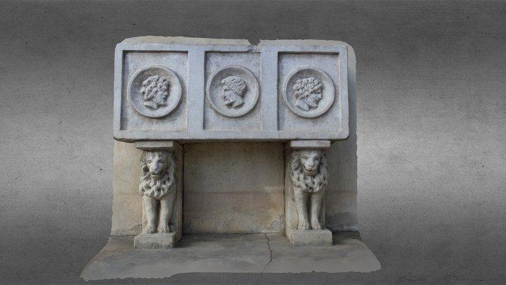 Altare degli eroi Villa Graziella Govone 3D Model