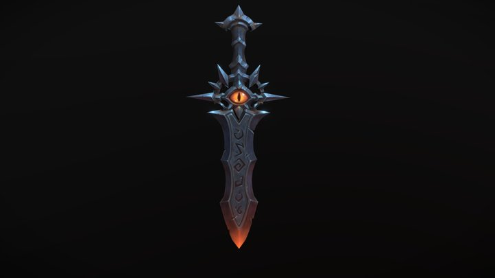 HandPaint Sword 3D Model