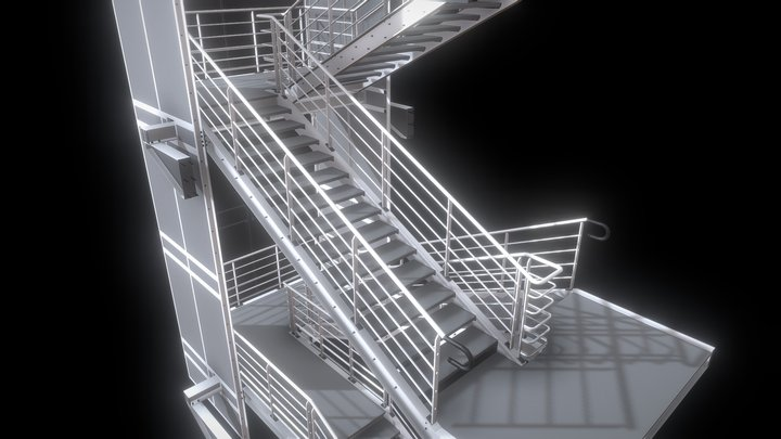 000 - STEEL STAIRS & FIRE ESCAPES 3D Model