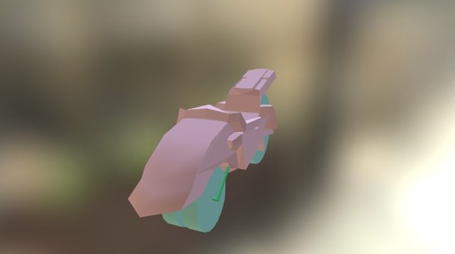 Based FF VII Motorcycle 3D Model
