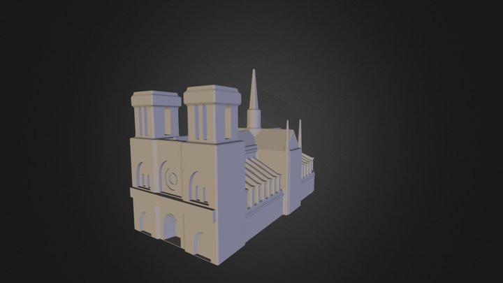 Notre Dame de Paris Mini 3D Model