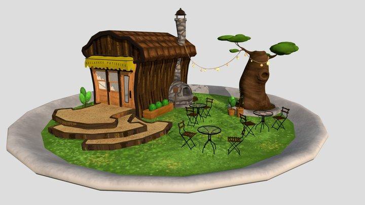 Boulangerie diorama 3D Model