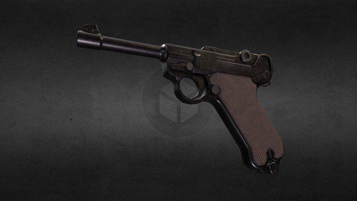P08 Luger Stsndard 3D Model