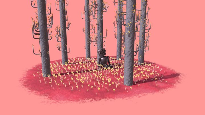 Nap in the Woods 3D Model