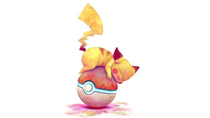 Sleepy Pikachu - Pokemon 3D Model
