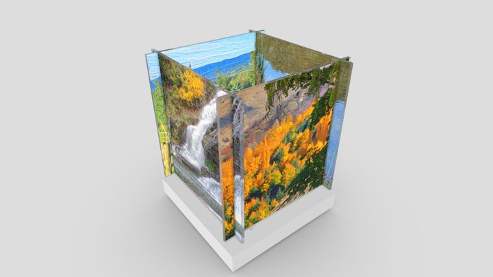 Dreamscape Medley: Intersecting Edges Quartet 3D Model
