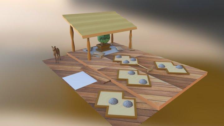 Rock Garden 3D Model