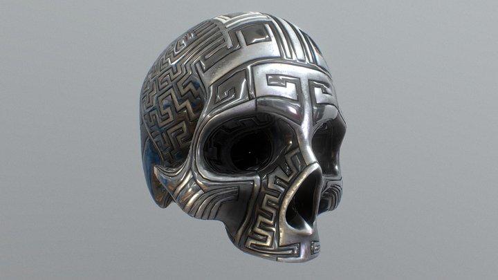 Labyrinth Skull 3D Model
