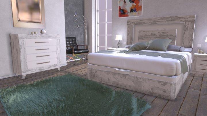 Azor Room Set Siberia 3D Model
