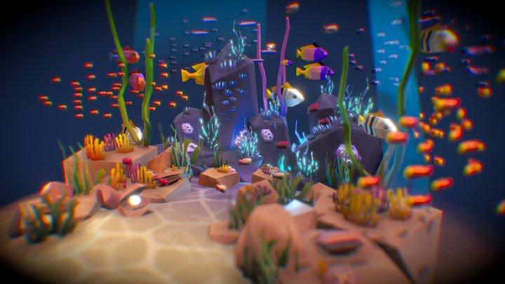 Sea Life Low Poly 3D Model