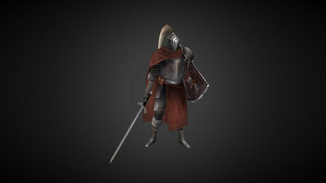 knight_low poly 3D Model