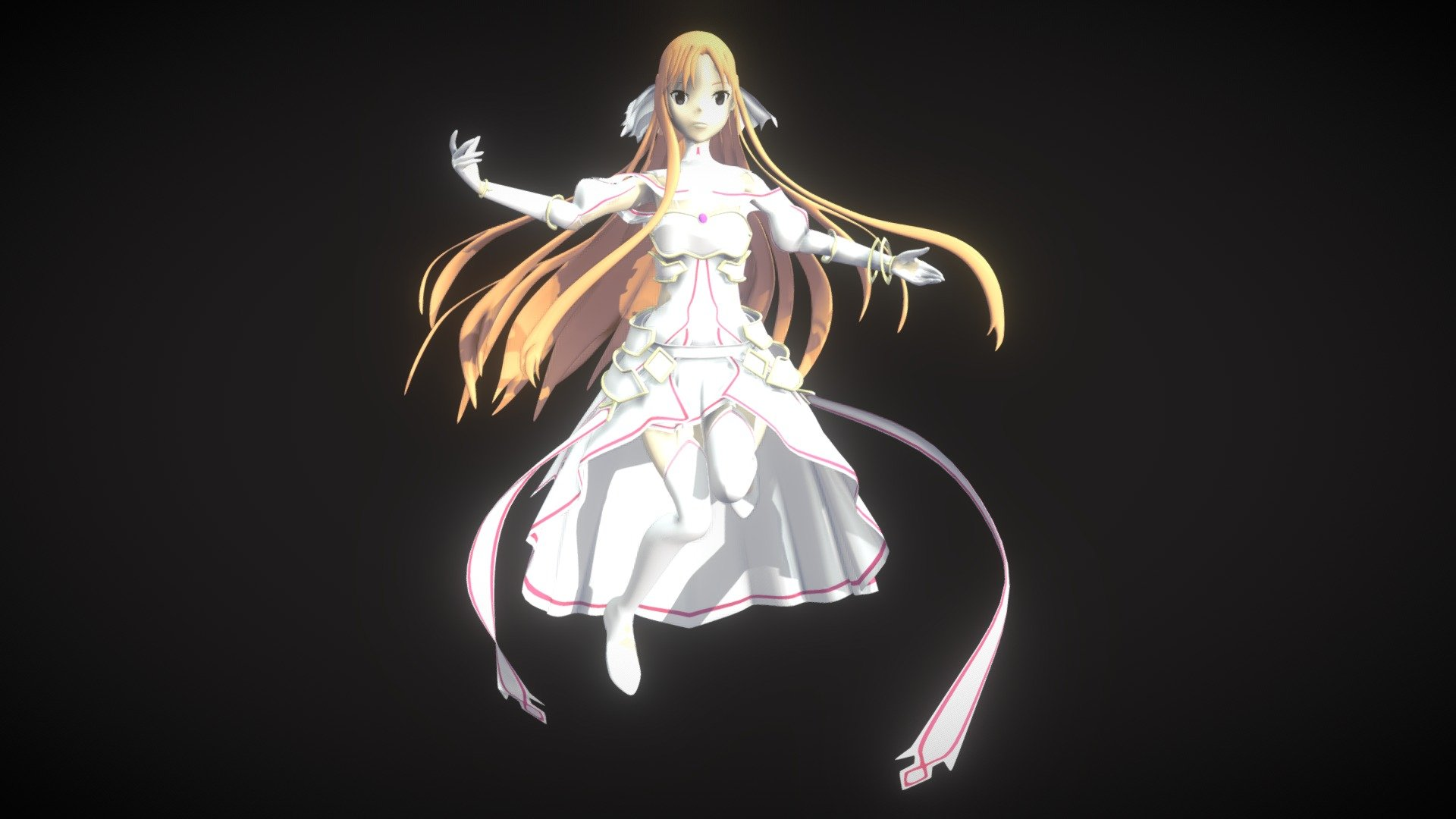 Sao Alicization Asuna Stacia 3d Model By Syahhz Syahhz A6a3433 Sketchfab