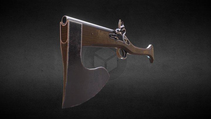 Axe Gun 3D Model