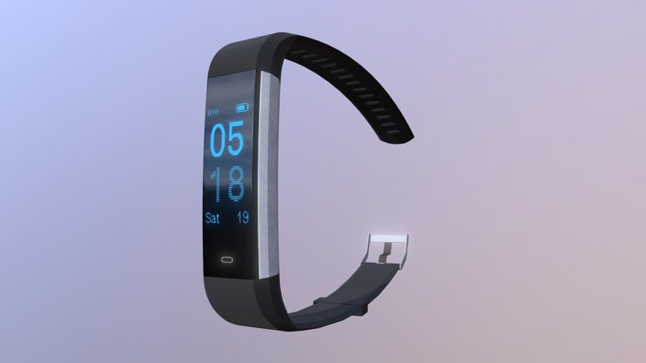 LETSCOM Fitness Tracker HR, Sport Tracker Watch 3D Model