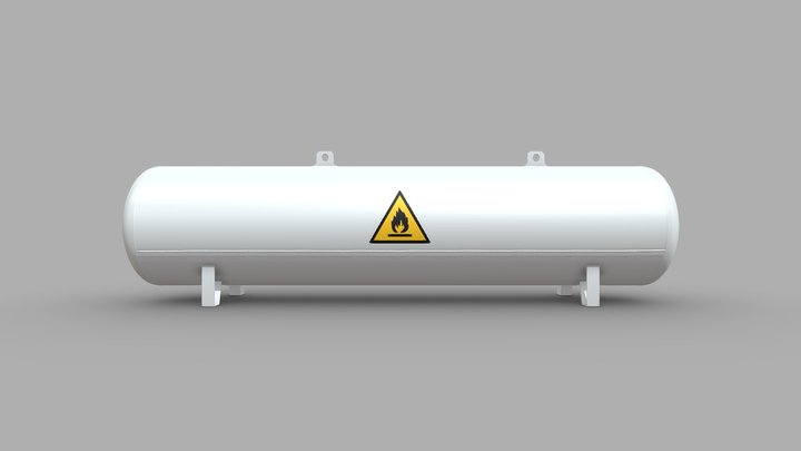 Liquefied Petroleum Gas Tank (Wip-1) 3D Model