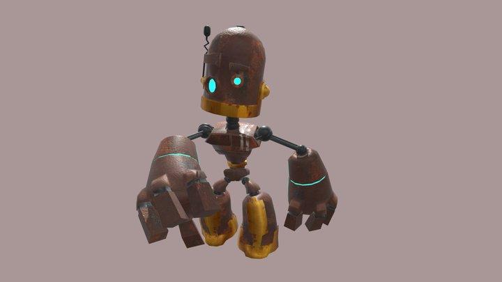 PBR rusty Robot 3D Model