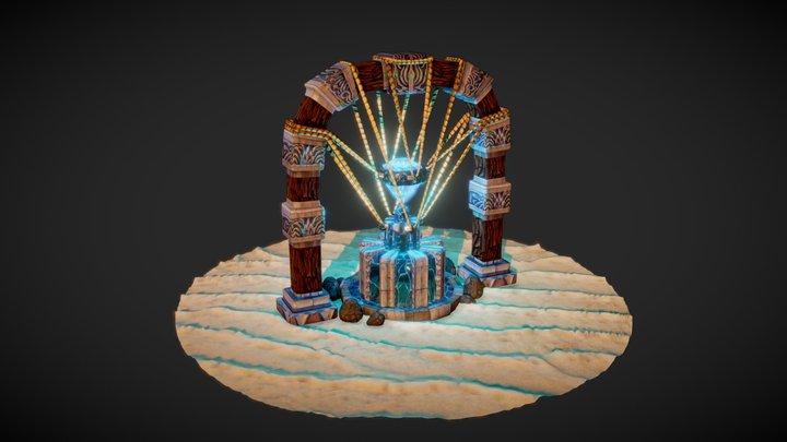 Stylized Fountain 3D Model