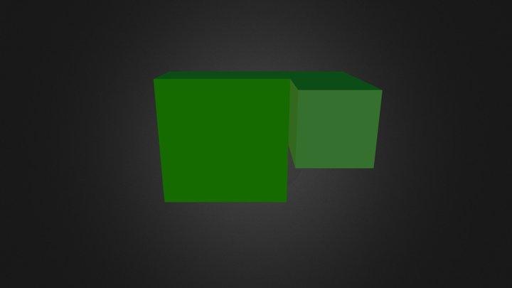 Dark Green Cube 3D Model