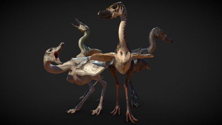 Flightless Alien Bird 3D Model