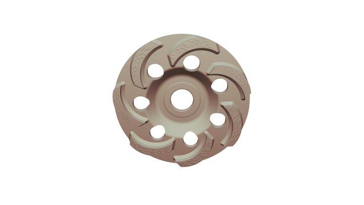 Алмазная шлифовальная чашка Ниборит Дельфин 125 3D Model