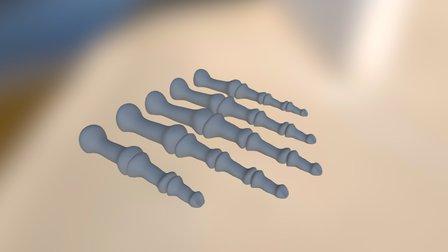 Skeleton Finger Necklace 3D Model
