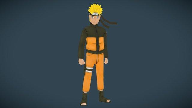 Naruto (shadeless) 3D Model