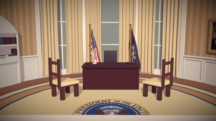 The Oval Office 3D Model