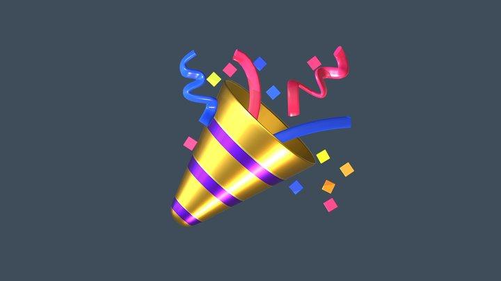 🎉 Party popper emoji (Low poly) 3D Model