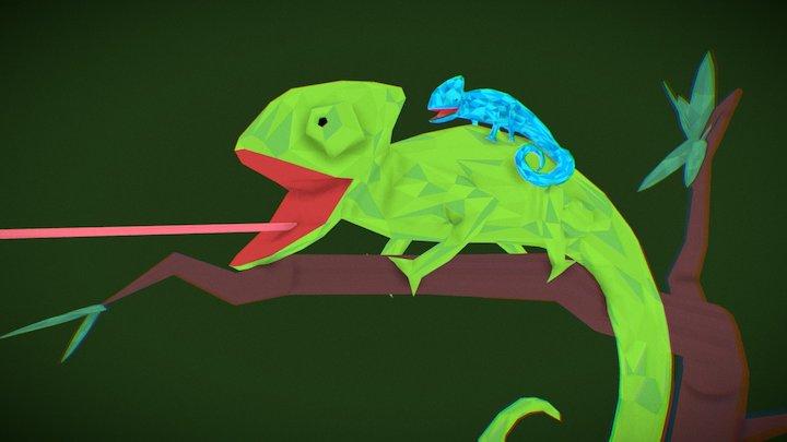 Chameleon Family 3D Model