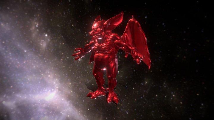 Fire Imp T-Pose 3D Model