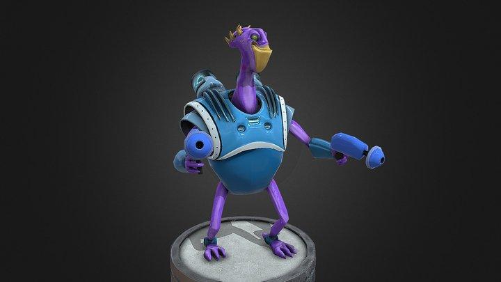 Tharpod lowpoly character 3D Model