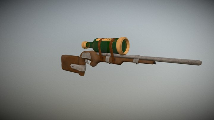 Sea of Thieve typed Rifle 3D Model