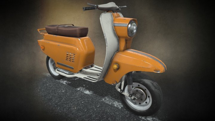 Moped USSR 70s... Look at models in my profile! 3D Model